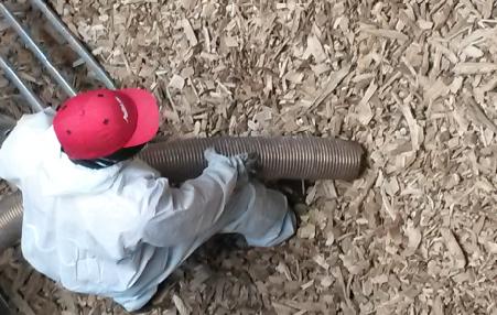 aspiration de copeaux de bois poussièreux