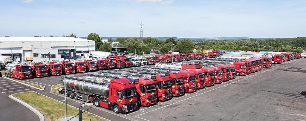 La flotte de camion de Maillot SAS