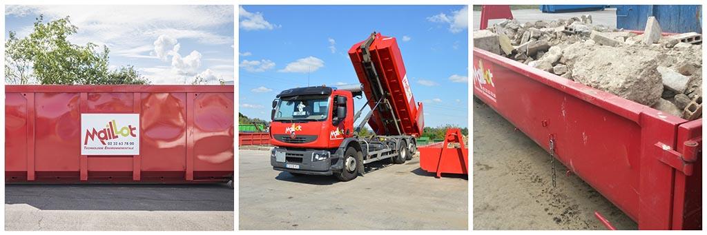 Collecte et transport de déchets en centre de traitement par Maillot SAS