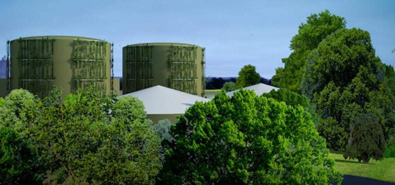 Centre de méthanisation des déchets Biogaz de Gaillon