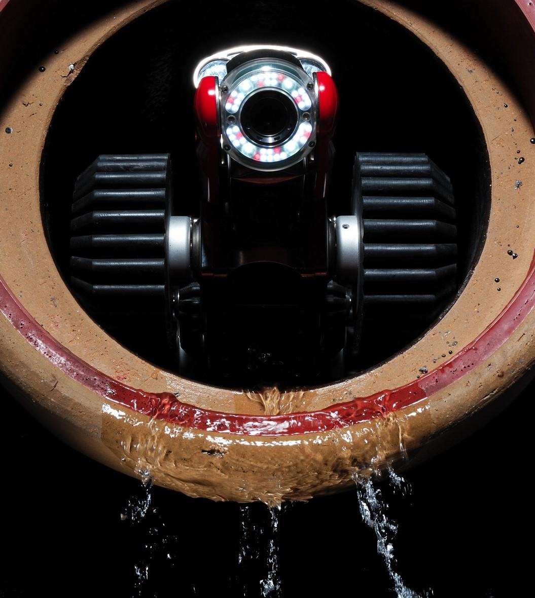 Robot d'inspection dans une canalisation